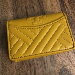 Mustard Yellow Tory Burch Wallet